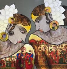 Figurative Acrylic Art Painting title 'Untitled 1' by artist Sachin Kharat