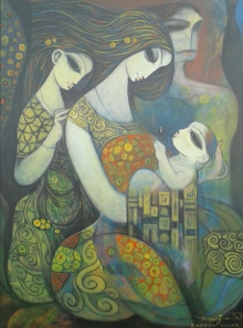 Figurative Acrylic Art Painting title 'Untitled' by artist Ramesh Gujar