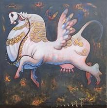 Animals Acrylic Art Painting title Untitled 16 by artist Ramesh Gujar