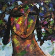 Figurative Acrylic Art Painting title Untitled 2 by artist Ramesh Gujar