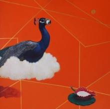 Animals Acrylic Art Painting title 'Forecast' by artist Javed Mulani