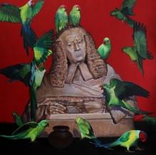 Animals Acrylic Art Painting title 'Judgement' by artist Javed Mulani