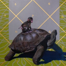 Animals Acrylic Art Painting title 'Source' by artist Javed Mulani