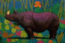 art,painting,animals,canvas,creative,,hippo