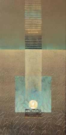 Abstract Acrylic Art Painting title Untitled 4 by artist Shivaji Chavan