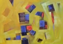 Tejas Danej | Acrylic Painting title Painting 12 on Canvas | Artist Tejas Danej Gallery | ArtZolo.com