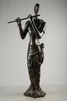 Bronze Sculpture titled 'Krishna' by artist Tapas Sarkar