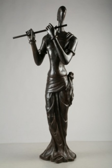 Tapas Sarkar | Krishna Sculpture by artist Tapas Sarkar on Bronze | ArtZolo.com