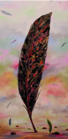 Nature Acrylic Art Painting title Plumage Evolution 3 by artist Raosaheb Gagre