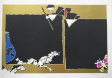 Expressionist Serigraphs Art Painting title 'Theorema Series 1' by artist M F Husain