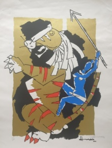 Expressionist Serigraphs Art Painting title 'Untitled' by artist M F Husain