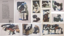 Expressionist Serigraphs Art Painting title 'Mother Teresa Series of 11 pcs' by artist M F Husain