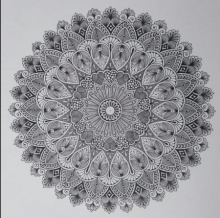 pattern Pen-ink Art Drawing title Design Mandala 1 by artist V Pugalenthi