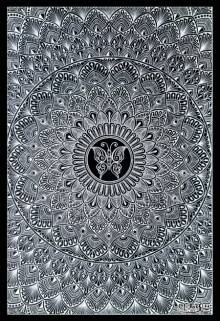 Animals Pen-ink Art Drawing title Black Mandala by artist V Pugalenthi