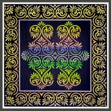 pattern Postercolor Art Painting title Paper Cut Design by artist V Pugalenthi