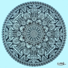 Traditional Naasi Mandala | Drawing by artist V Pugalenthi | | Pen&Ink | Paper