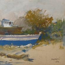 Bhargavkumar Kulkarni | Oil Painting title Landscape on Canvas | Artist Bhargavkumar Kulkarni Gallery | ArtZolo.com