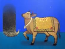 Mukesh Diliprao Hattarge | Acrylic Painting title Shiv Bhakti on Canvas | Artist Mukesh Diliprao Hattarge Gallery | ArtZolo.com