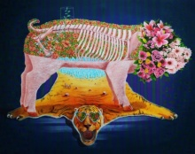 contemporary Acrylic Art Painting title Pig 3 by artist Sanjay Kumar