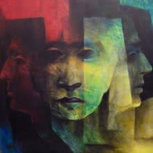 head,human,face,three faces