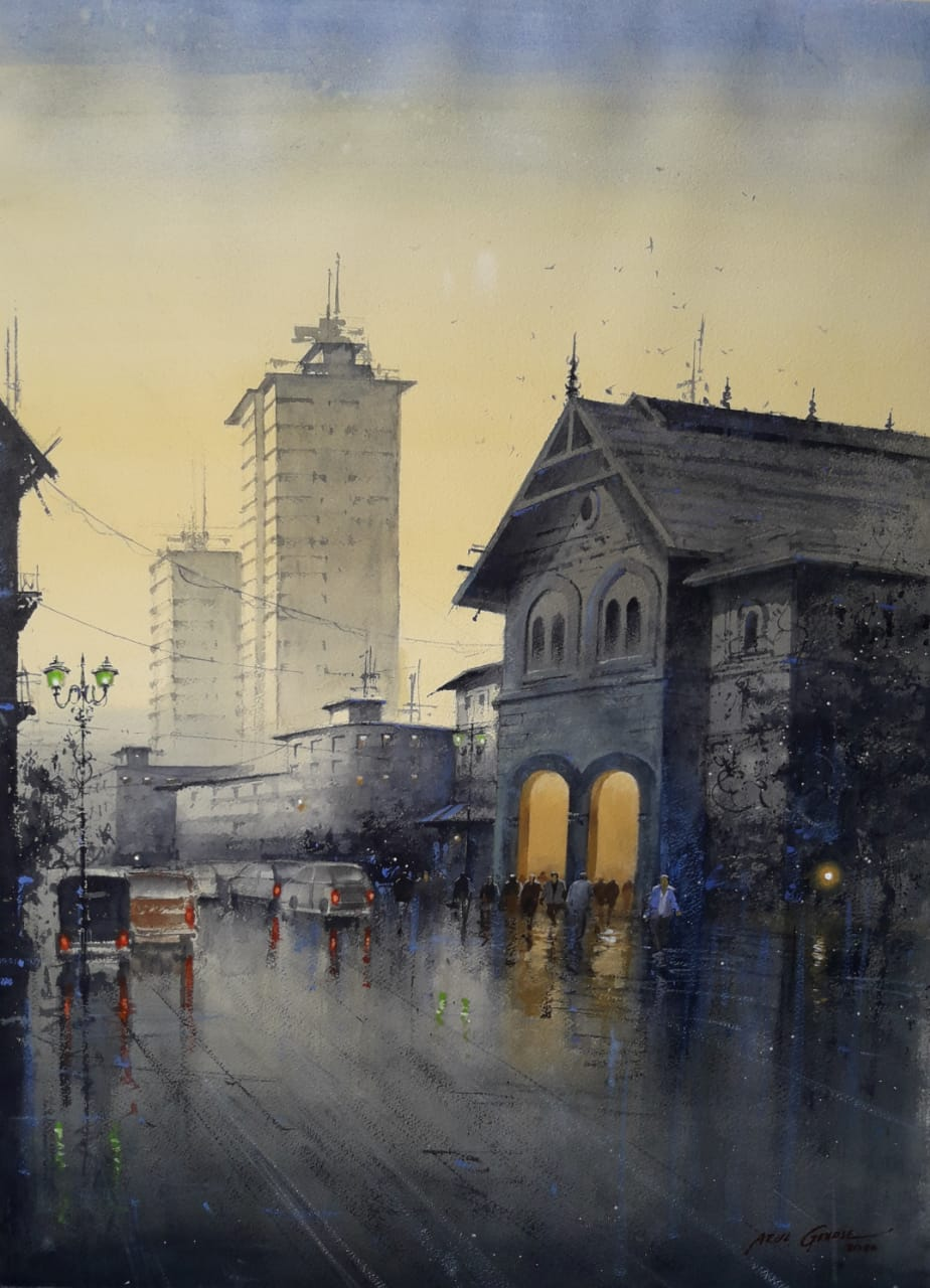 Free Shipping Sites >> Old Bombay by artist Atul Gendle | ArtZolo.com