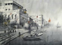 Varanasi | Painting by artist Atul Gendle | watercolor | Paper