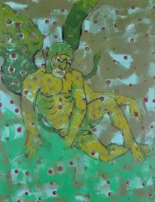 Figurative Acrylic Art Painting title Untitled 1 by artist Abhishek Chourasia