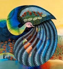 Animals Acrylic Art Painting title Enchant 12 by artist Sanjay Tandekar