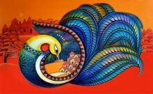 Animals Acrylic Art Painting title Fascination 10 by artist Sanjay Tandekar