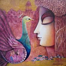 Figurative Acrylic Art Painting title Fusion 3 by artist Sanjay Tandekar