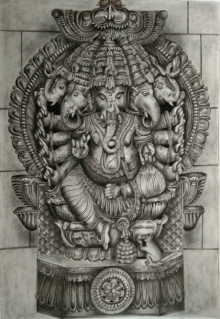 #charcoal sketching#ganpati drawing# portrait#religious #hindu mythology# elephant god#ganesha#