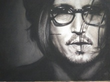Johnny Depp | Painting by artist Preeti Ghule | charcoal | Paper