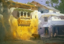 Dungarpur | Painting by artist RAKESH SURYAWANSHI | watercolor | Paper