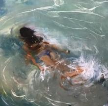 Figurative Oil Art Painting title Beauty Beneath The Water by artist SURABHI GULWELKAR