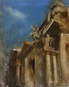 art, painting, oil, linen, cityscape