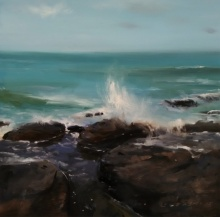 SURABHI GULWELKAR | Oil Painting title Seascape on Canvas | Artist SURABHI GULWELKAR Gallery | ArtZolo.com