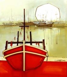 Cityscape 4 | Painting by artist Salman Farooqi | acrylic | Canvas