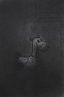 Toys Charcoal Art Drawing title Toy 1 by artist Deepak Sinkar