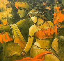 Religious Acrylic Art Painting title Tune Of Life 7 by artist Subrata Das