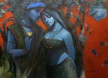 Religious Acrylic Art Painting title Tune Of Love 7 by artist Subrata Das
