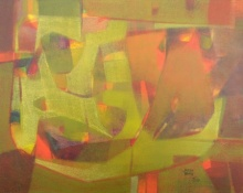 Abstract Acrylic Art Painting title 'Undefined Emotion 1' by artist Jayesh Borse