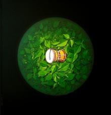 Religious Acrylic Art Painting title God Shiva by artist RAJIB DEYASHI