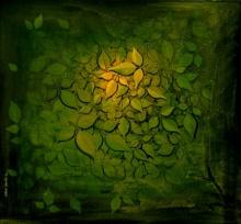 Hirannya Garbha | Painting by artist RAJIB DEYASHI | acrylic | Canvas