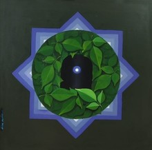 Religious Acrylic Art Painting title Shiva by artist RAJIB DEYASHI