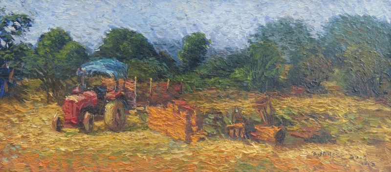 TRACTOR BY AMOL DUBHELE | Landscape Paintings