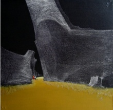 Landscape Acrylic Art Painting title 'Long Drive' by artist Yogesh Lahane
