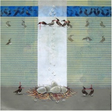 Animals Acrylic Art Painting title 'Waiting' by artist Yogesh Lahane