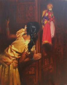Vijay Jadhav | Oil Painting title Child Hood Fantacy 1 on Canvas | Artist Vijay Jadhav Gallery | ArtZolo.com