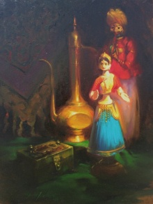 Vijay Jadhav | Oil Painting title Still Life 3 on Canvas | Artist Vijay Jadhav Gallery | ArtZolo.com