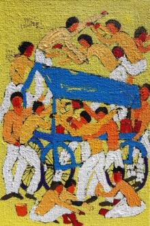 Figurative Acrylic Art Painting title 'Day 8' by artist Kumar Ranjan